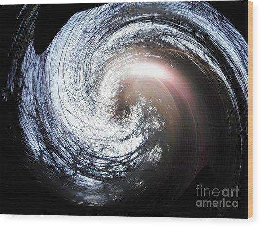 Peupliers En Spirale Wood Print