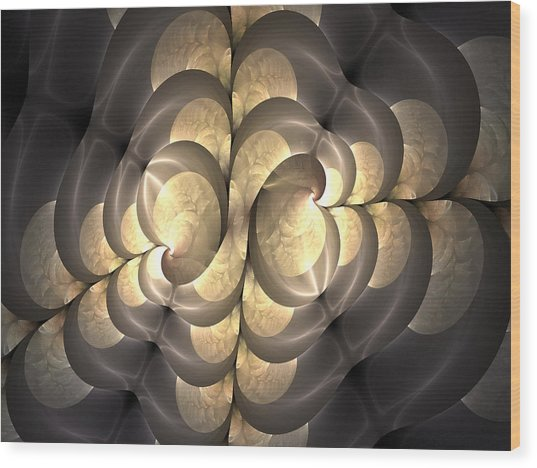 Pewter And Gold Wood Print