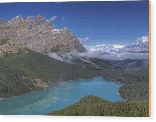 Peyto Lake Wood Print