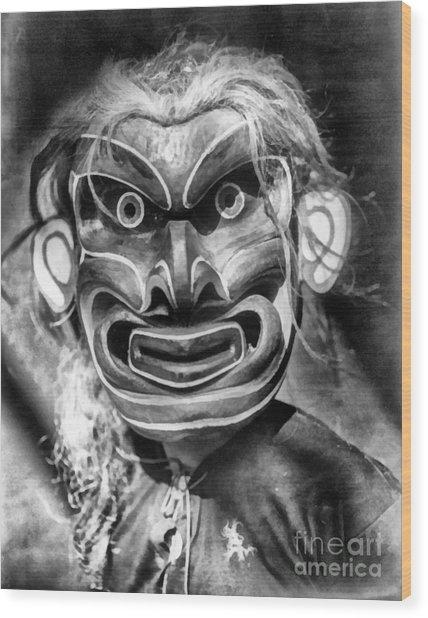 Pgwis Qagyuhl Indian Mask Wood Print
