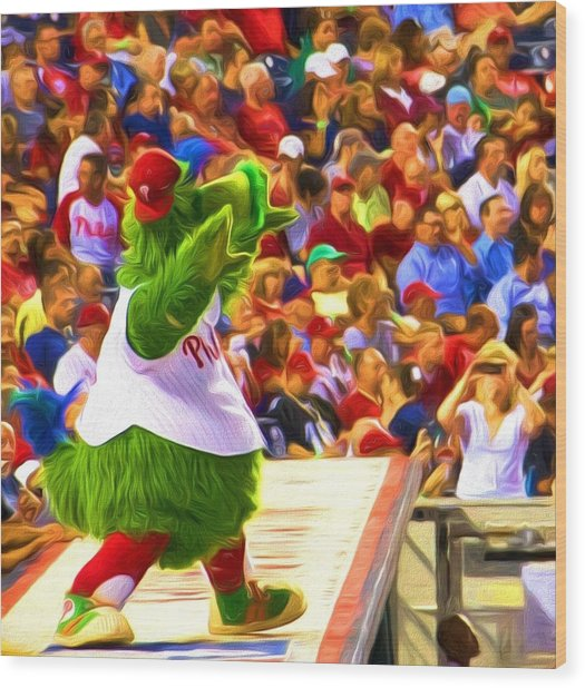 Phanatic In Action Wood Print