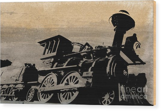 Phantom On Rails Wood Print by R Kyllo