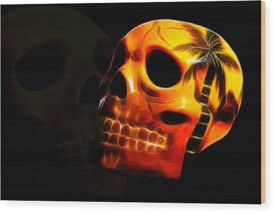 Phantom Skull Wood Print