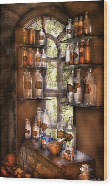 Pharmacist - Various Potions Wood Print