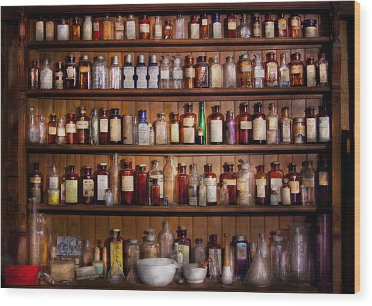 Pharmacy - Pharma-palooza  Wood Print