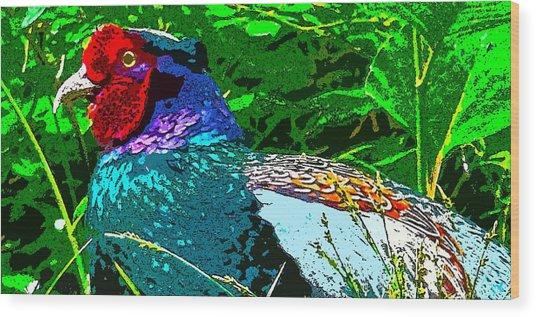 Pheasant Digiartwork Wood Print