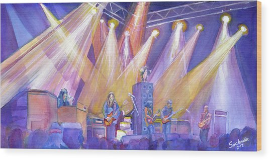 Phil And Friends Wood Print