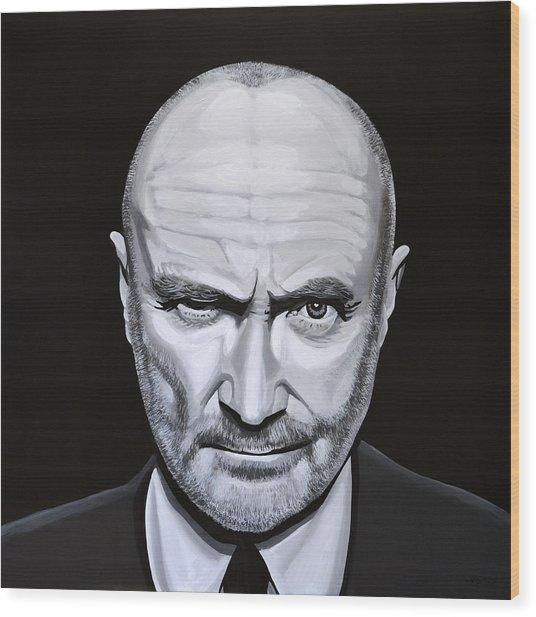 Phil Collins Wood Print