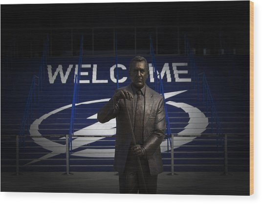 Phil Esposito Says II Wood Print