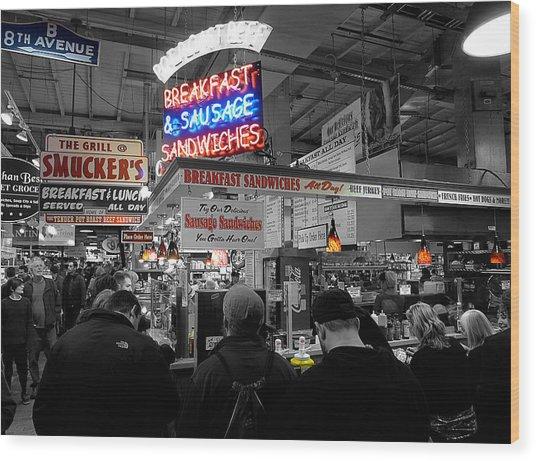 Philadelphia - Breakfast At Smucker's Wood Print