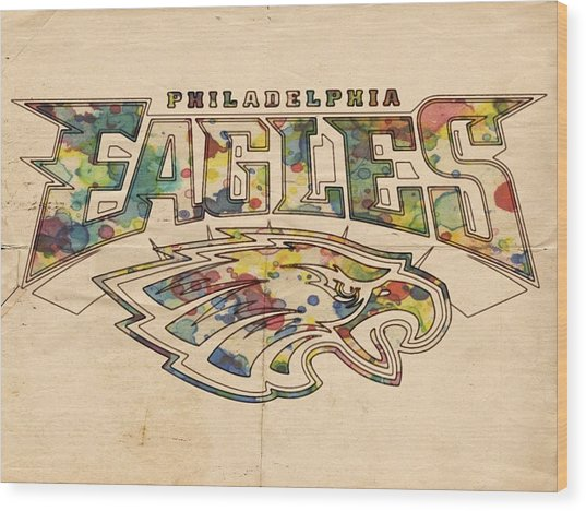 Philadelphia Eagles Poster Art Wood Print