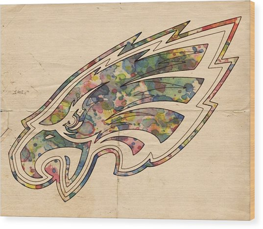 Philadelphia Eagles Poster Vintage Wood Print