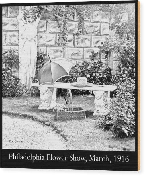Philadelphia Flower Show Display 1916 Wood Print