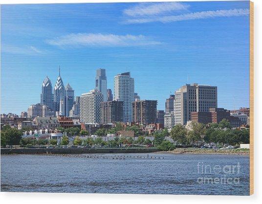 Philadelphia Living Wood Print