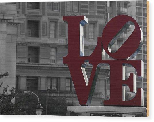 Philadelphia Love Wood Print