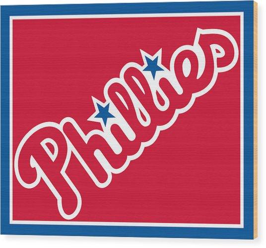 Philadelphia Phillies Baseball Wood Print