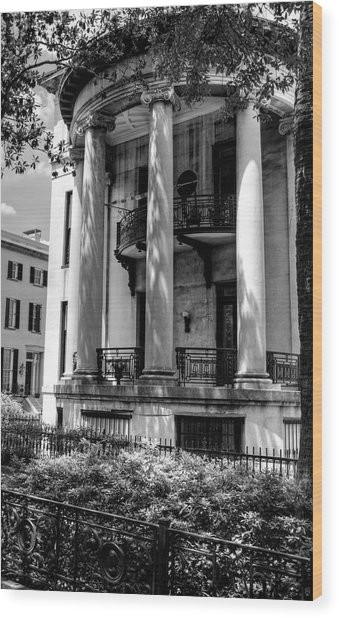 Philbrick - Eastman House In Black And White Wood Print