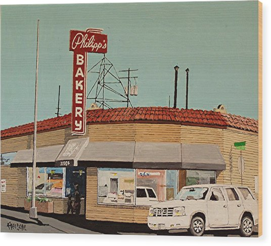 Philipp's Bakery No. 2 Wood Print by Paul Guyer