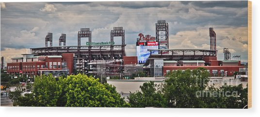 Phillies Stadium Wood Print