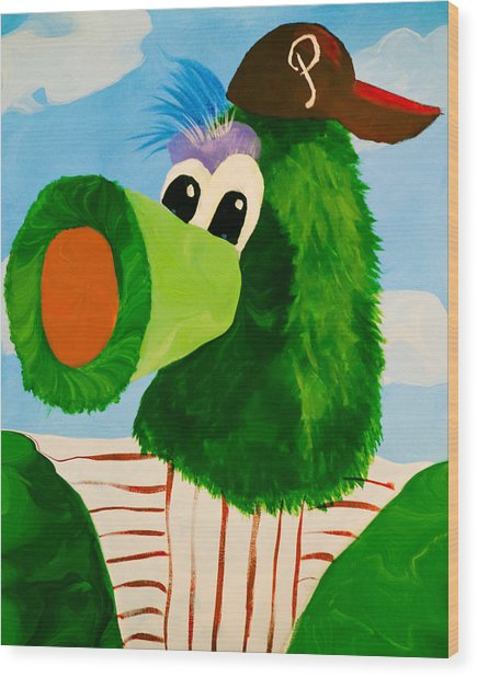 Philly Phanatic Wood Print