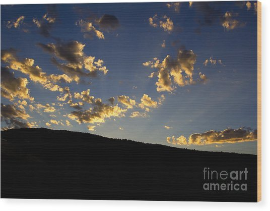 Philmont Sunset Wood Print by Sheldon Perry