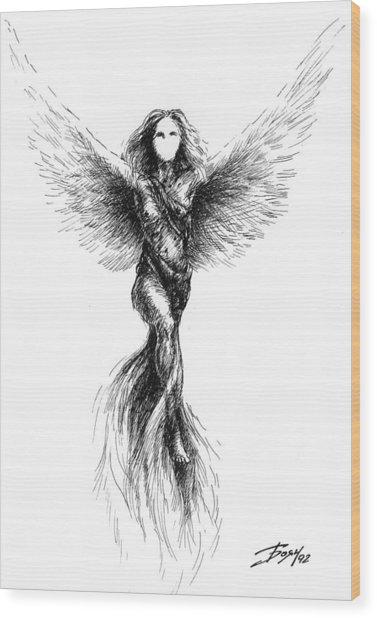 Phoenix Wood Print by Boyan Donev