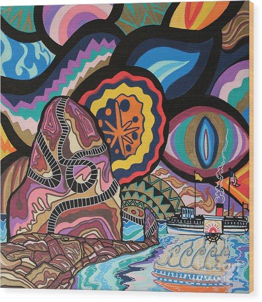 Phoenix Wood Print by Carlos Martinez