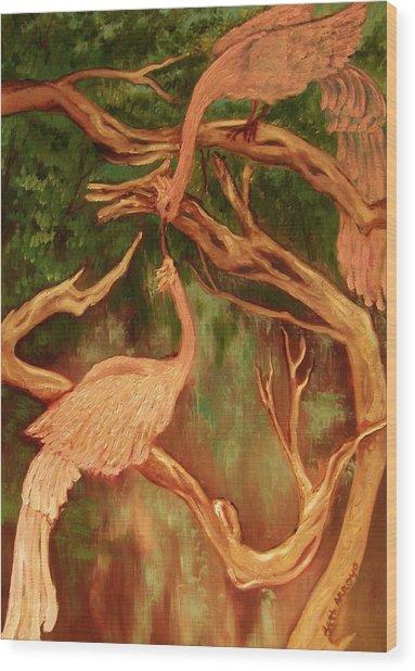 Phoenix-dares To Love Again Wood Print