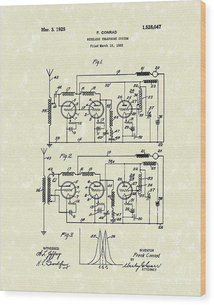 Phone System 1925 Wood Print