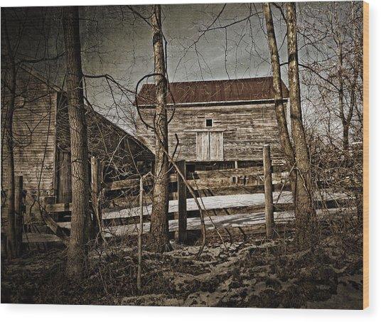 Country Barn Photograph Wood Print