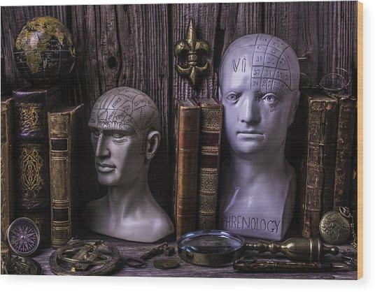 Phrenology Still Life Wood Print
