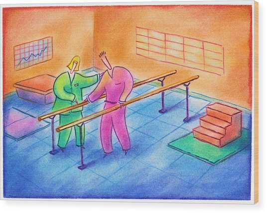 Physical Therapy Patient Wood Print by Craig Smallish