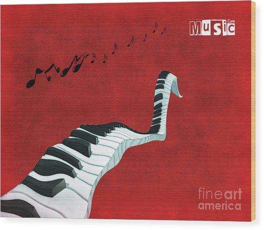 Piano Fun - S01at01 Wood Print