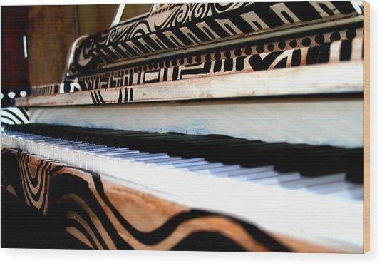 Piano In The Dark - Music By Diana Sainz Wood Print