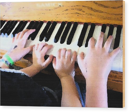 Piano Lessons Wood Print