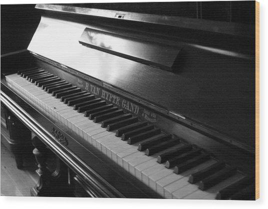 Piano Wood Print