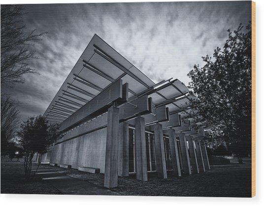 Piano Pavilion Bw Wood Print