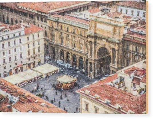 Piazza Della Repubblica Wood Print