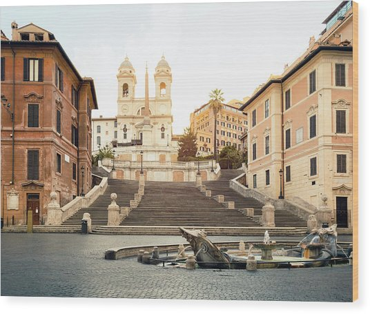 Piazza Di Spagna, Spanish Steps, Rome Wood Print by Spooh