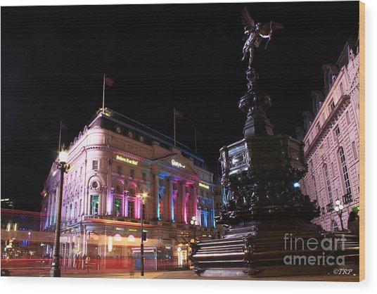 Piccadilly Circus Wood Print by Size X
