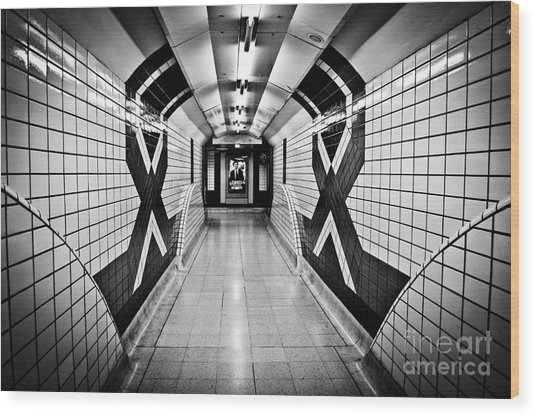 Piccadilly Circus Subway Wood Print