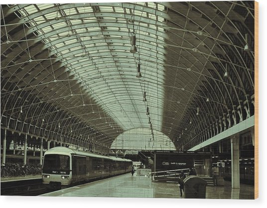 Piccadilly Station Wood Print