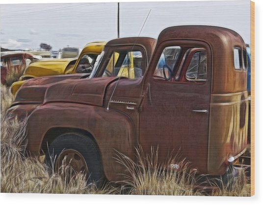 Pickup Cabs 2 Wood Print