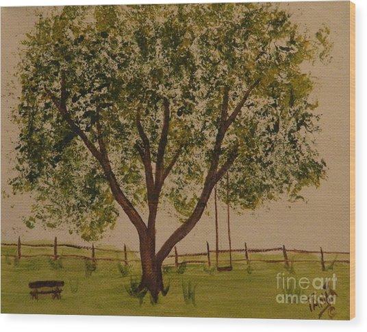 Picnic Wood Print