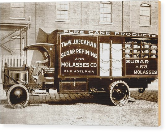 Picture 10 - New - Molasses Truck - Wide Wood Print