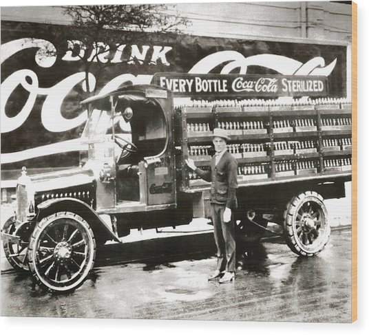 Picture 7 - New - Coca Cola Delivery Truck Wood Print