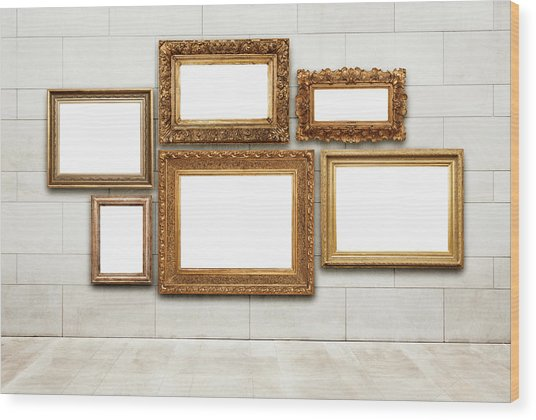 Picture Frames Wood Print by Jorg Greuel