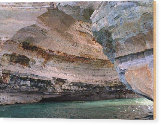 Pictured Rocks Bridge II Wood Print by Kevin Snider