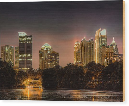 Piedmont Park Lake Wood Print