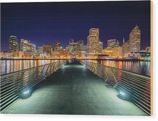 Pier 14 Wood Print